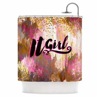Inexpensive It Girl Shower Curtain By East Urban Home