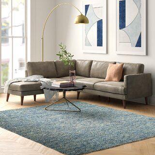 Ainsley Right Hand Facing Leather Sectional by Modern Rustic Interiors SKU:BA807941 Order