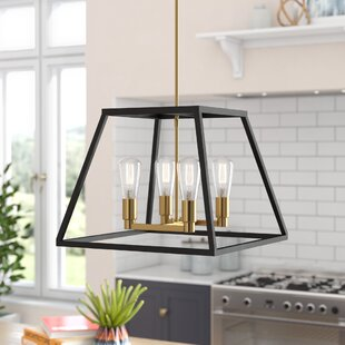 Brayden Studio Sheredan 4-Light Square/Rectangle Chandelier