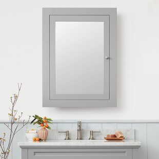 Clearance Raine 24.41 x 32.44 Recessed Framed Medicine Cabinet with 2 Adjustable Shelves By Ronbow