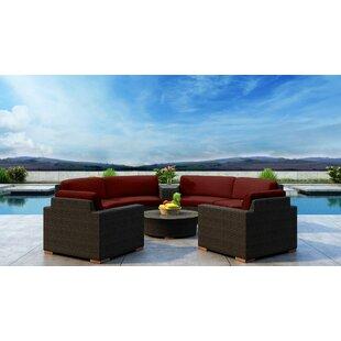 Everly Quinn Glen Ellyn 6 Piece Sectional Set with Sunbrella Cushion