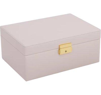 Charlton Home Large Jewelry Box Color: Cream