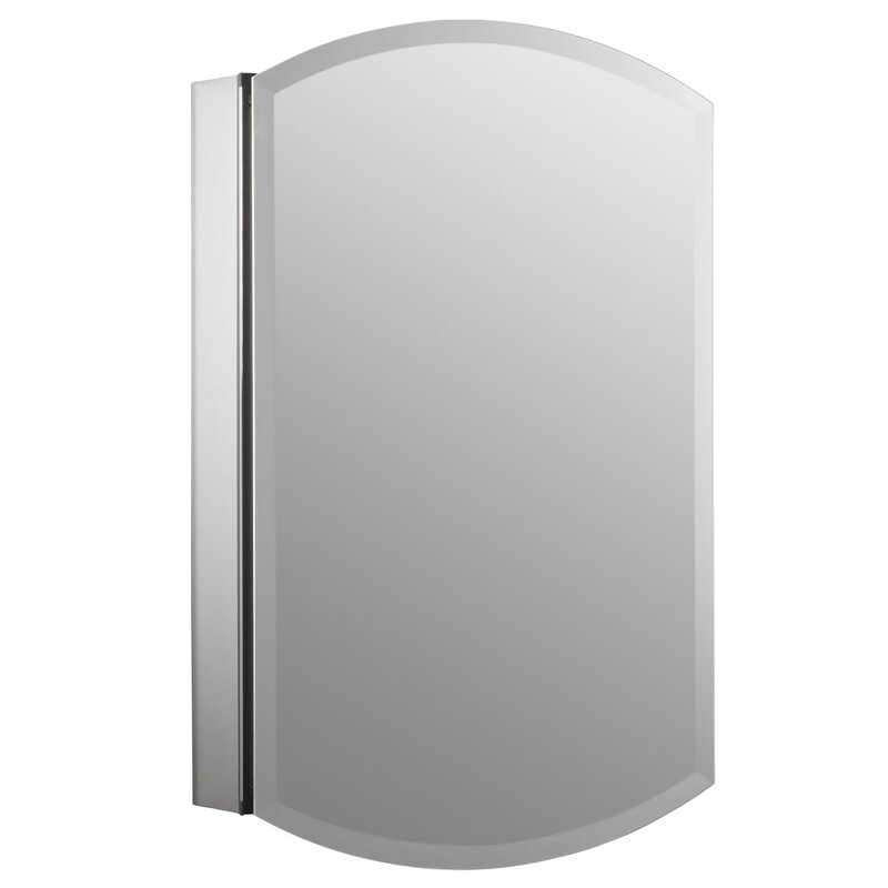 "Archer 20"" x 31"" Aluminum Wall Mount Medicine Cabinet with Mirrored Door"