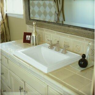 Inexpensive Memoirs® Ceramic Rectangular Drop-In Bathroom Sink with Overflow By Kohler