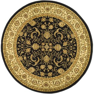 Ottis Power Loomed Black Indoor Area Rug by Charlton Home