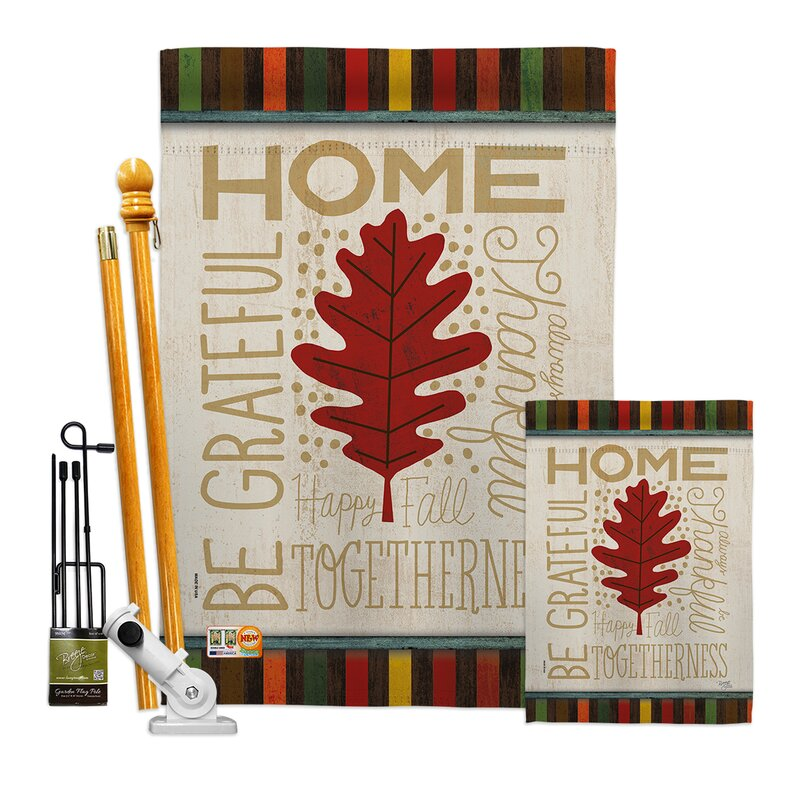 Breeze Decor Home Be Grateful Impressions Decorative 2 Sided Polyester 40 X 28 In Flag Set Wayfair