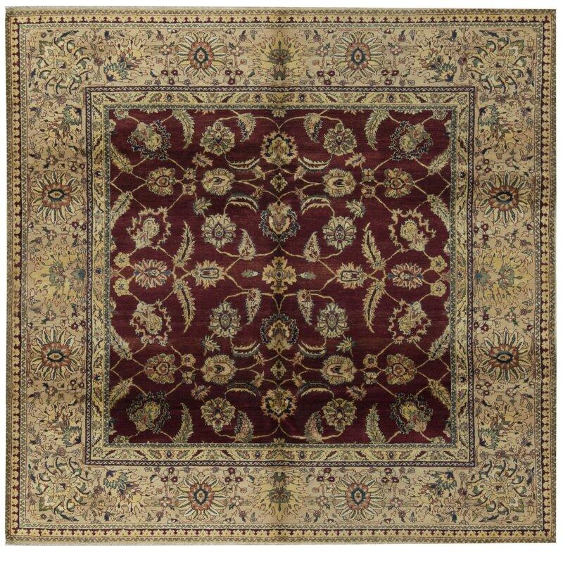 Bokara Rug Co., Inc. One-of-a-Kind 1414 Sona Square 8 Wool Brown/Red Area Rug