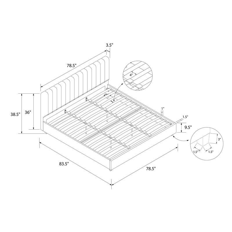 Novogratz Brittany Upholstered Platform Bed Reviews