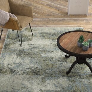 Best Reviews Knox Haze Blue/Green Area Rug By Williston Forge