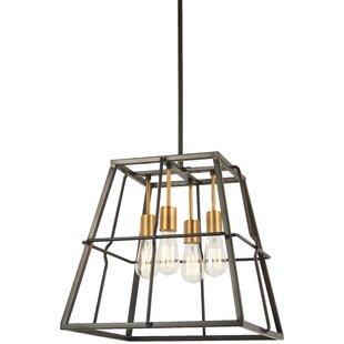 Croyle 4-Light Geometric Chandelier by Williston Forge