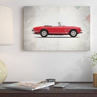 'Vintage Italia Series: 1966 Ferrari 275 GTS' Vintage Advertisement on Canvas ByEast Urban Home