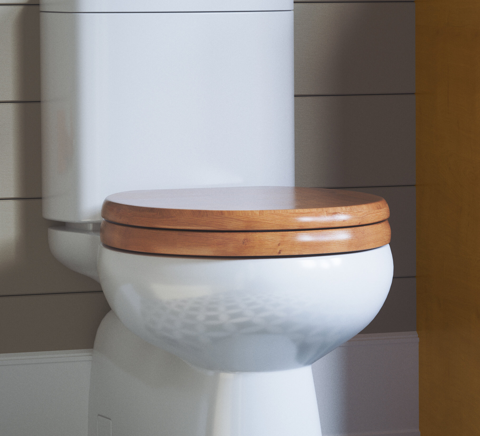 Awesome Dalton Round Closed Front Toilet Seat In Honey Oak Theyellowbook Wood Chair Design Ideas Theyellowbookinfo