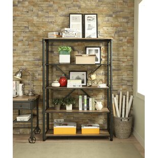 Christofor Metal Frame Standard Bookcase by 17 Stories
