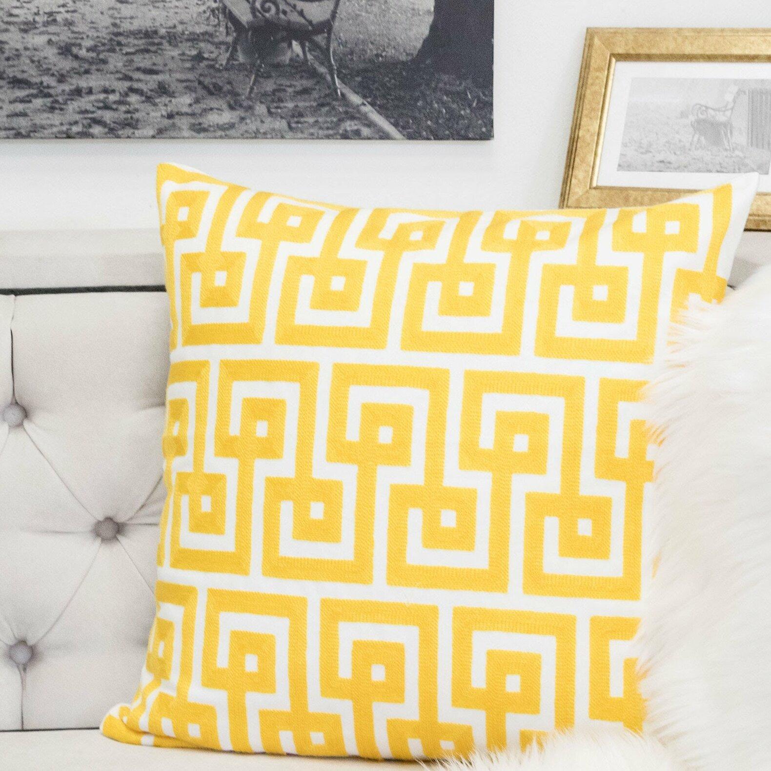 Mercer41 Zeitler Indoor Outdoor Cotton Throw Pillow Reviews Wayfair