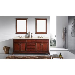 Pineville 72 Double Bathroom Vanity Set by Charlton Home