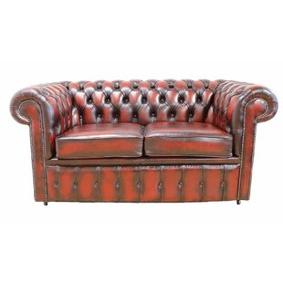 Laursen Genuine Leather 2 Seater Chesterfield Sofa By Williston Forge