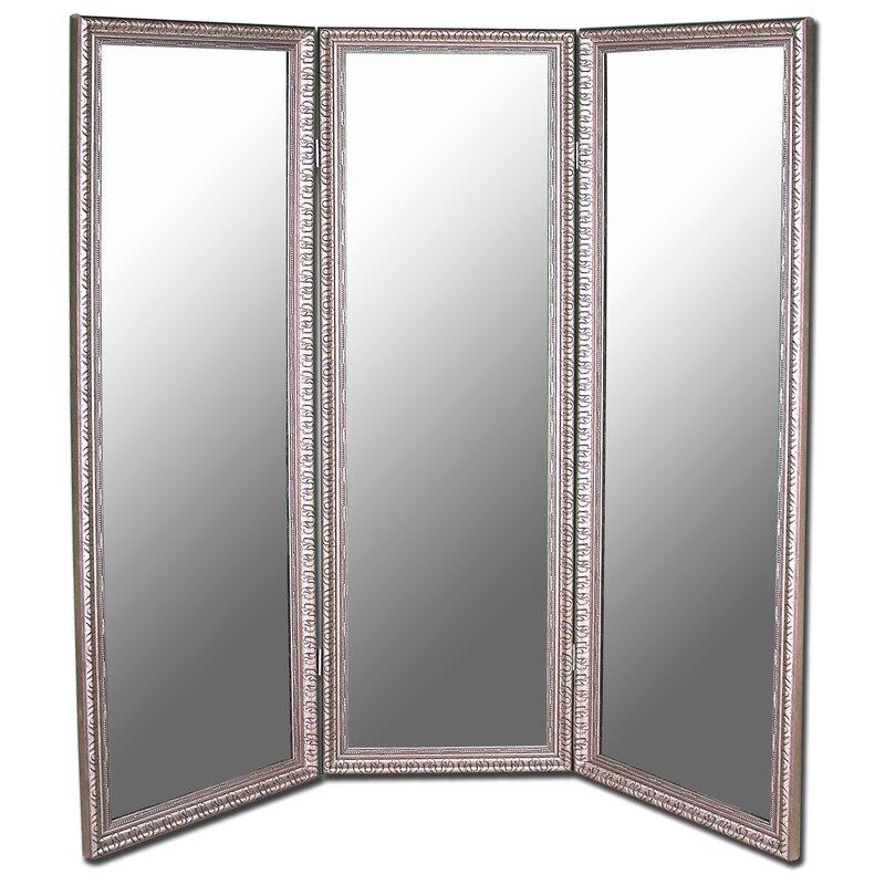 default_name - Astoria Grand Carrick Antique Silver Beaded 3 Panel Mirror Room