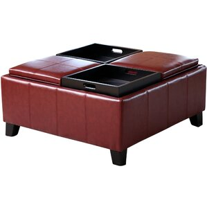 Leatherwood Ottoman by Dar..