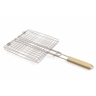 Statham Wooden Handle BBQ Basket By Symple Stuff