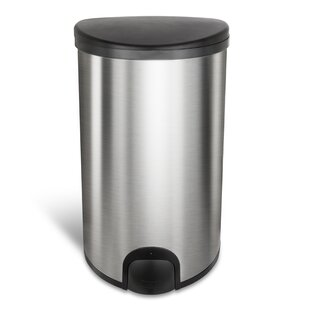 Steel 13 Gallon Toe Tap Trash Can