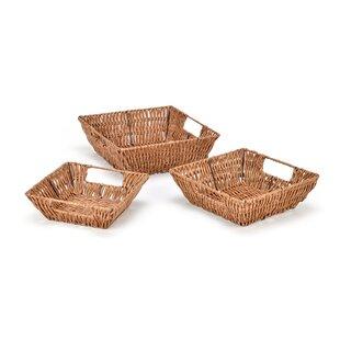 Check Prices Plastic 3 Piece Basket Set ByTrademark Innovations