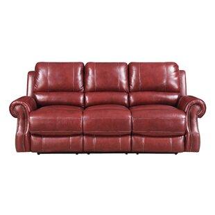 Crete Leather Reclining Sofa Red Barrel Studio