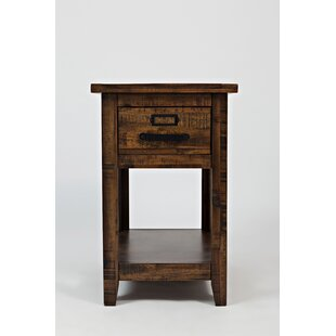 Millwood Pines Jamal Wooden Chairside End Table