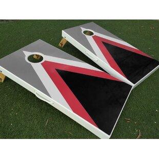 West Georgia Cornhole Triple Triangle Cornhole Board with Toss Bags Set