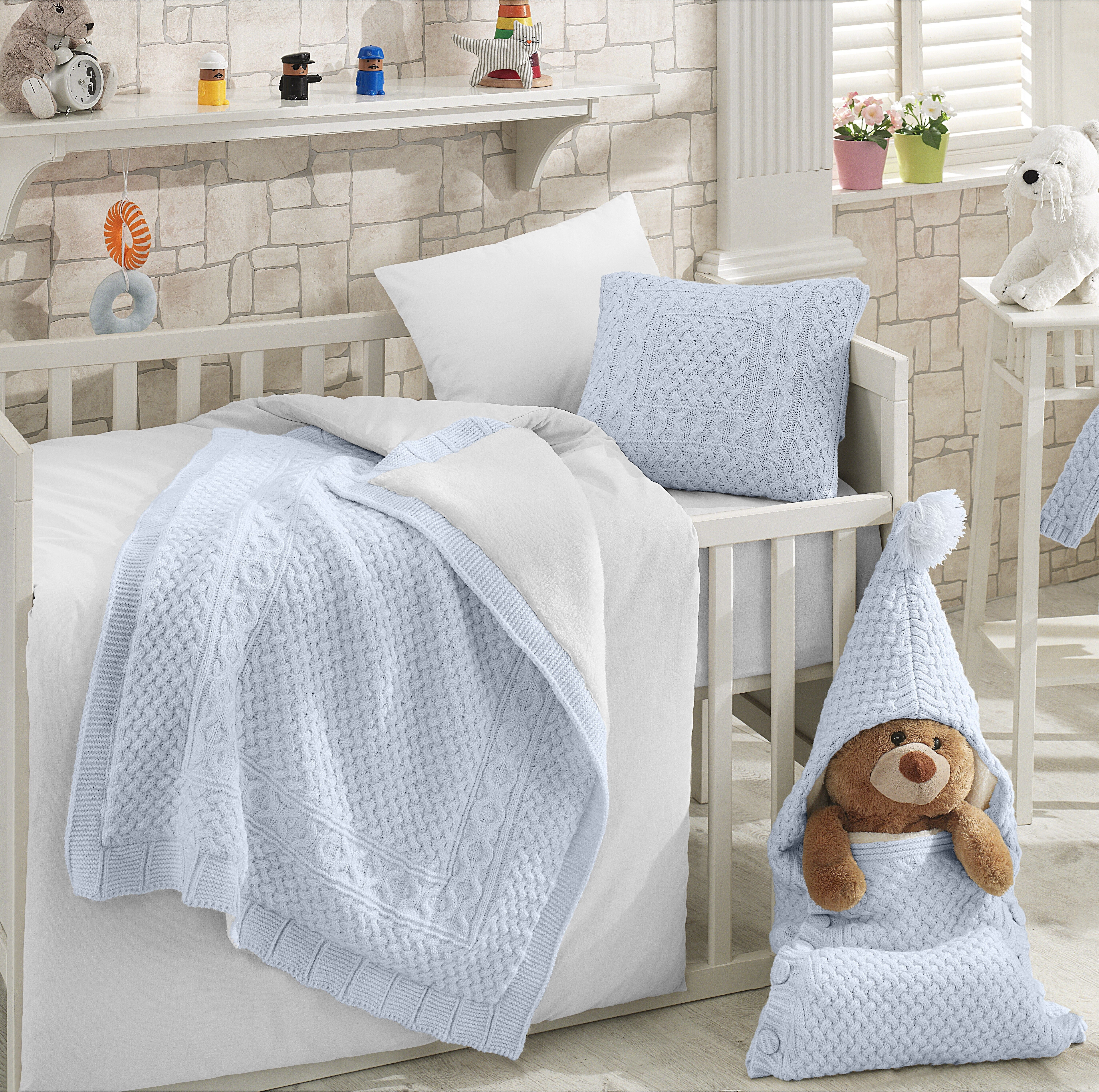 Blue Baby Doll Bedding Ruth Cradle Bedding Set