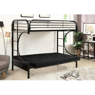 Oviedo Metal Twin Futon Bunk Bed by Zoomie Kids Coupon
