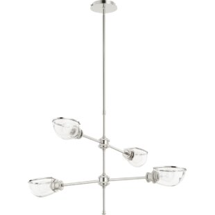 Williston Forge Digiovanni 4-Light Shaded Chandelier