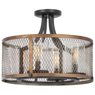 Check Prices Croy 4-Light Semi Flush Mount By Williston Forge
