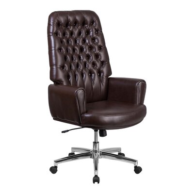 Stefania High Back Traditional Executive Swivel Office Chair