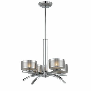 Orren Ellis Duell 4-Light Shaded Chandelier