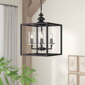 Gracie Oaks Randalholme 4 Light Lantern Rectangle Pendant Wayfair