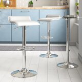 Zahara Adjustable Height Swivel Bar Stool (Set of 2) by Zipcode Design™