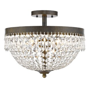 Rosdorf Park Dora 4-Light Semi Flush Mount