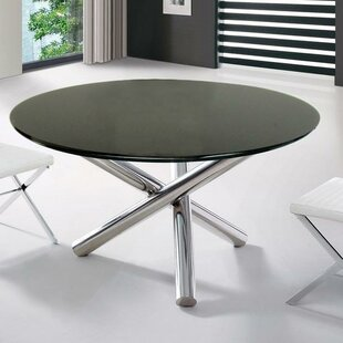 Camron Contemporary Glass Top Dining Table Orren Ellis