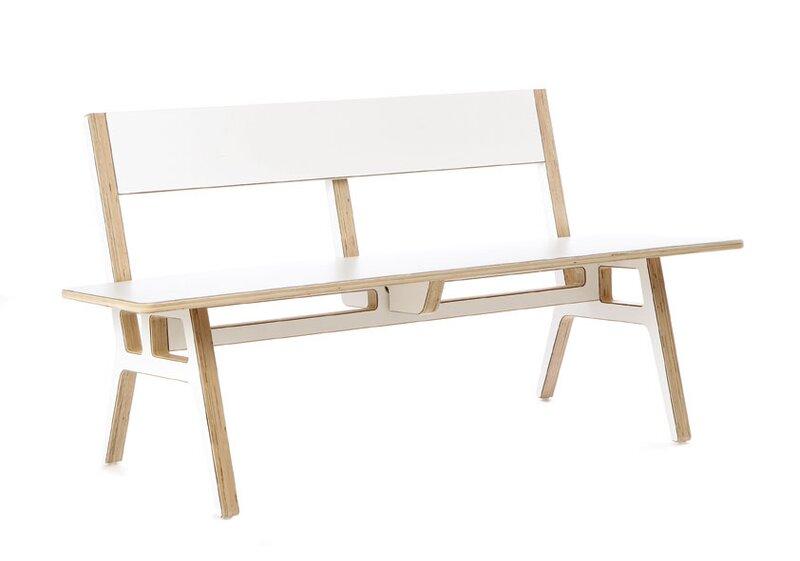 Context Furniture Truss Museum Birch Bench