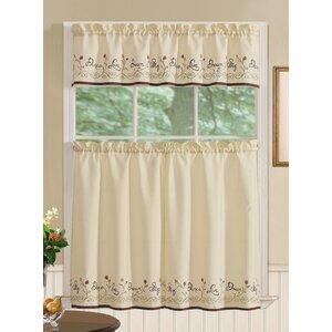 Charles 3 Piece Kitchen Curtain Set