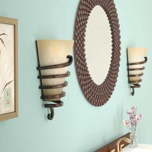Comparison Charles 1-Light Wall Sconce By World Menagerie