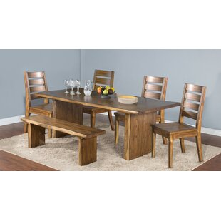 Alsatia Solid Wood Dining Table Loon Peak