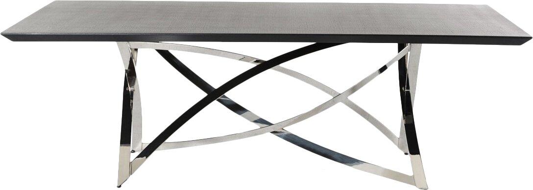 orren ellis camron steel base dining table & reviews | wayfair