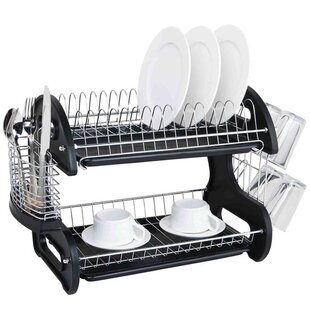 Sleek Contemporary 2 Tier Dish Drainer by Sweet Home Collection Design