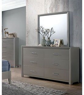 Wrought Studio Aahil 6 Drawer Double Dresser with Mirror Image