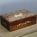Wooden Box With Deer Wayfair