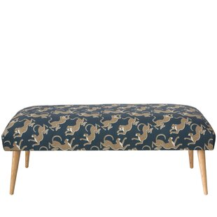 Bloomsbury Market Addilynn Leopard Upholstered Bench