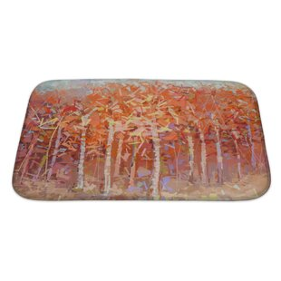 Art Primo Abstract Oil Painting Landscape Colorful Autumn Forest Bath Rug