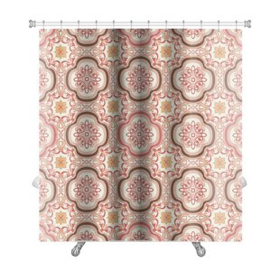 Gecko Vintage Flower Floral Abstract Wallpaper Royal Fabric Premium Single Shower Curtain