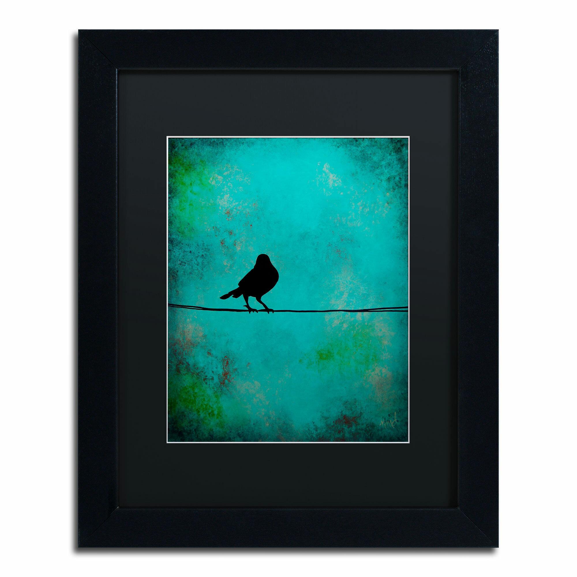 Trademark Art Bird S Attention By Nicole Dietz Framed Graphic Art Reviews Wayfair